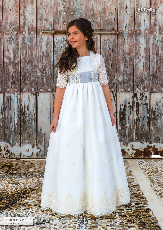 Vestidos de comunion de cora 2019